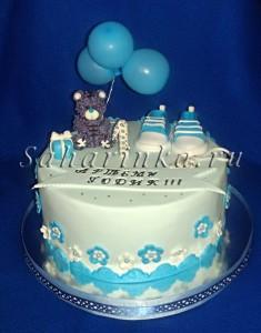 Торт, украшенный мастикой, на годик мальчику