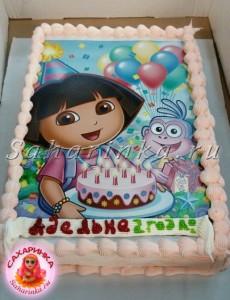 торт девочке 2 года
