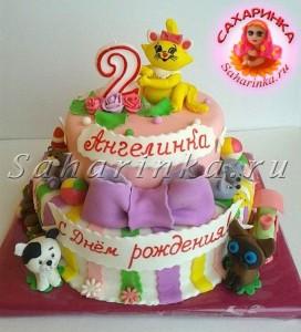 торт для девочки на 2 года