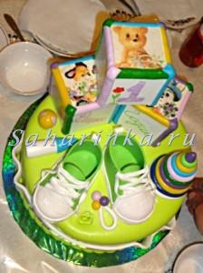 торт мальчику на годик