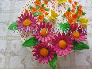 мастер-класс цветы из мастики