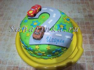 торт на 2 года мальчику