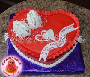 торт в виде сердца родителям фото