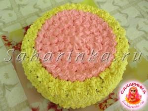 торт с белковым и масляным кремом