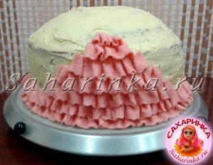 торт кукла из мастики