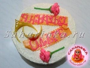 торт с розами из мастики