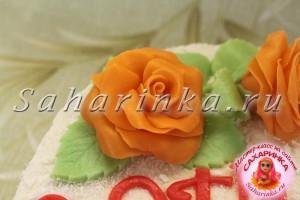 Розы из мастики, мастер-класс